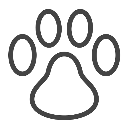 An icon showing a dog footprint